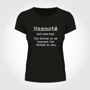 om yoga magazine t-shirt