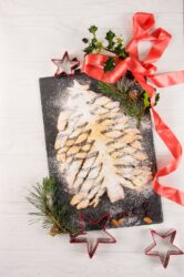 Chocolate, Hazelnut and Cranberry Christmas Tree