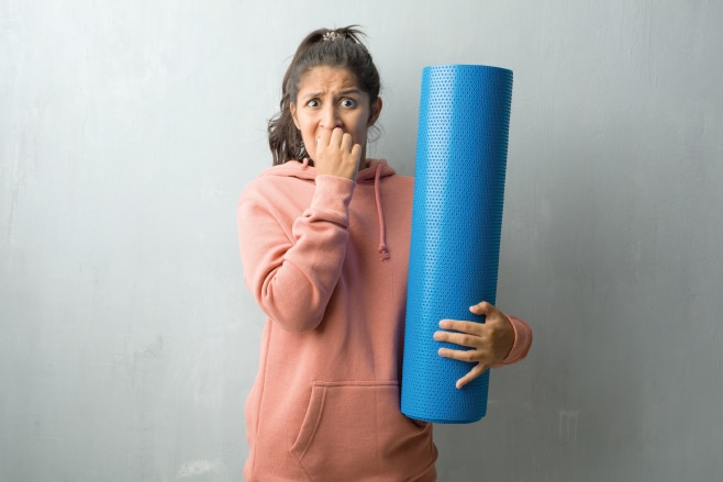 first yoga class