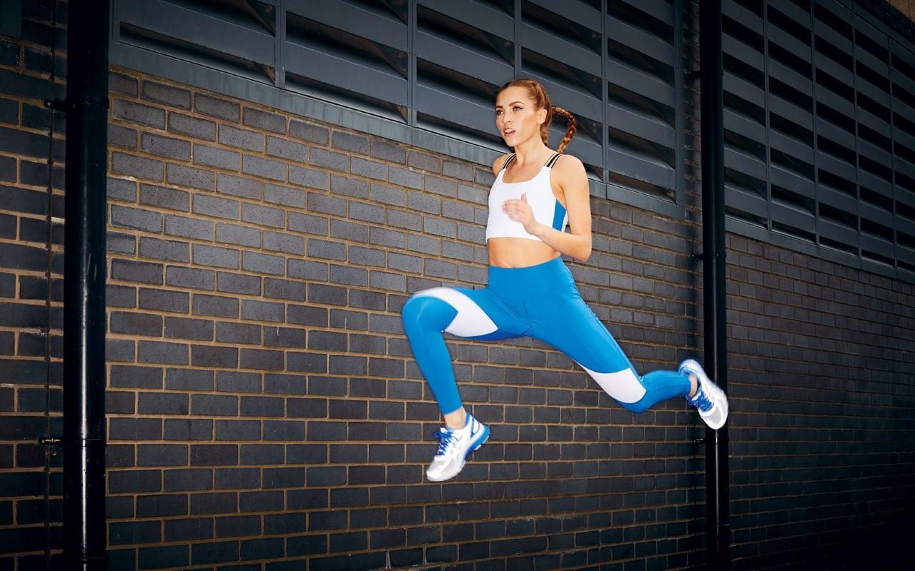 Block-rocker Crop - White/Blue - £57 Bold Move Leggings - Blue/White - £75