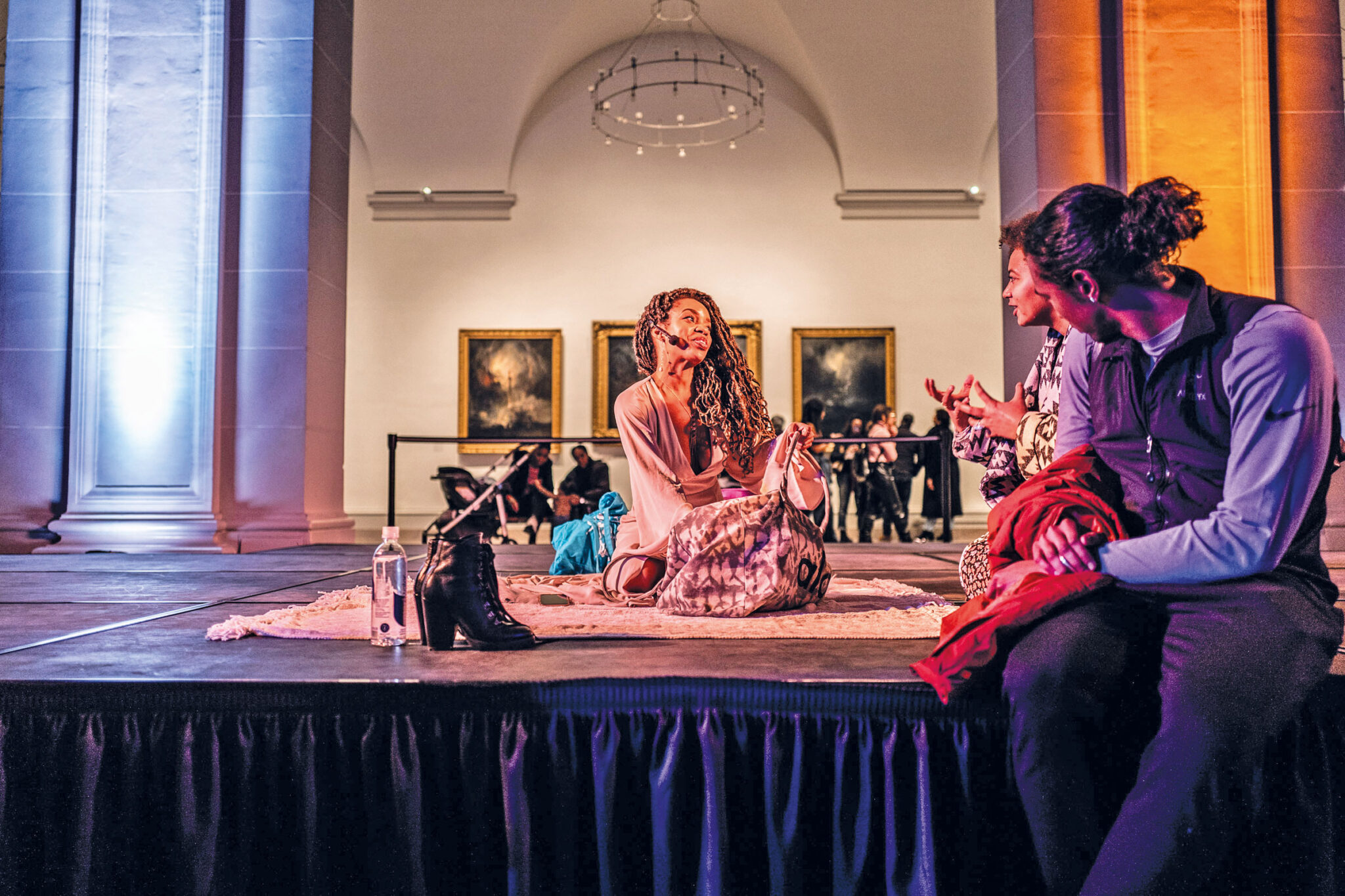 Heal Haus - Inside the The Brooklyn Museum teaching meditation