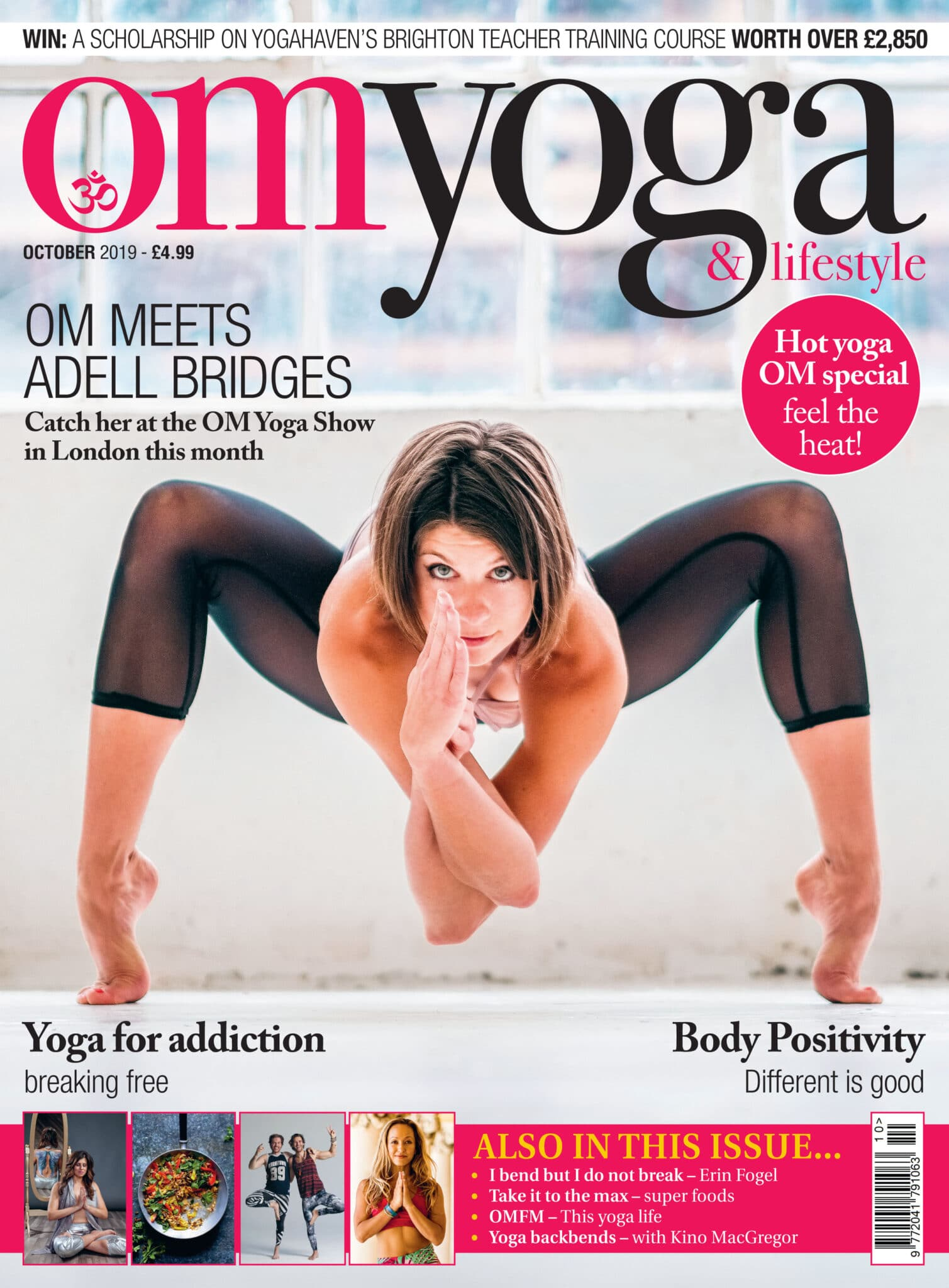 Om Yoga Cover October 2019