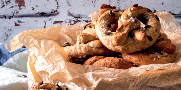 Wholemeal and Pumpkin Seed Pretzels