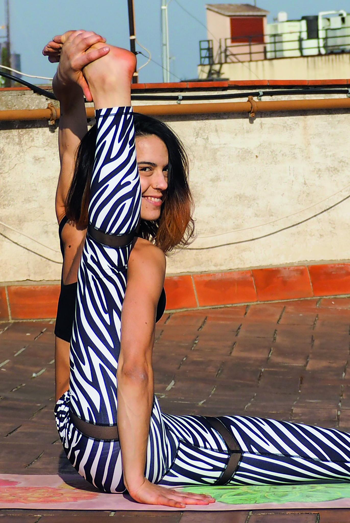 Africa Dream Zebra Print Leggings, £39.99 blossomyogawear.com