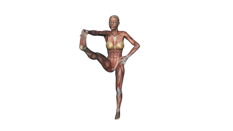 standing big-toe hold pose