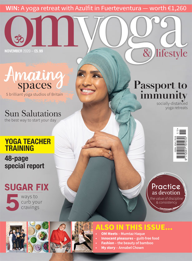 OM Yoga Magazine November 2020 Cover