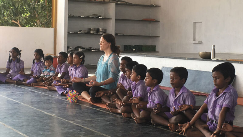 The eightfold path of yoga for children