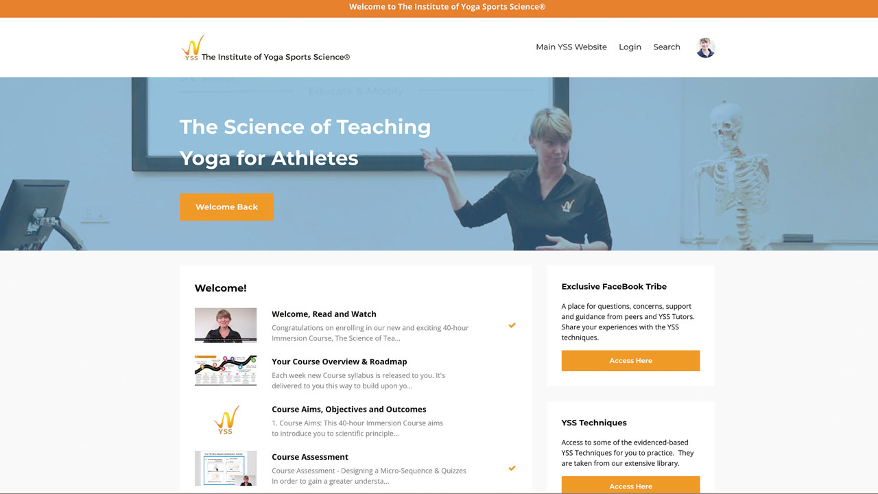 Best online yoga - Yoga Sport Science