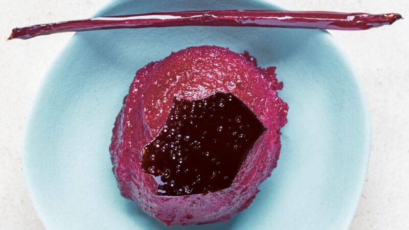 Blood red beetroot sorbet