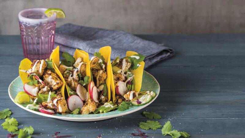 Roasted Cauliflower and Lentil Tacos