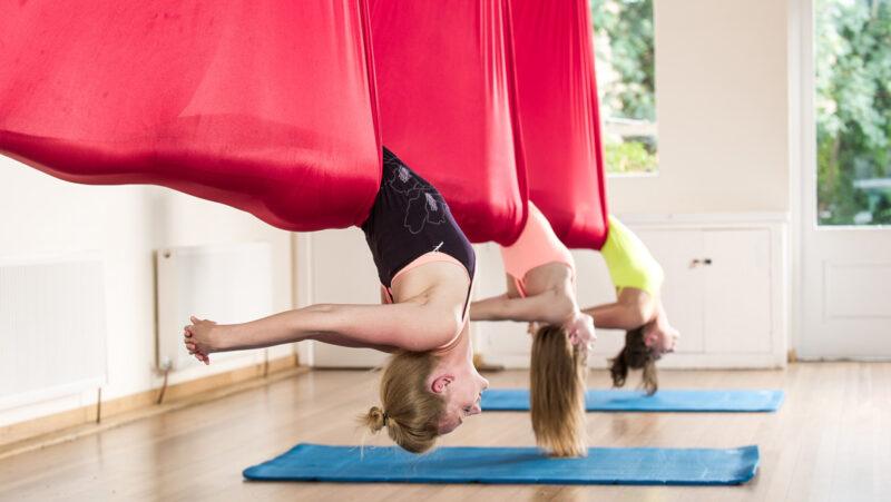 Flying high - aerial yoga