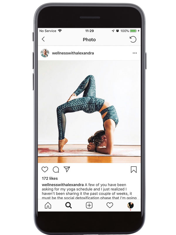 Becoming a social media yoga influencer