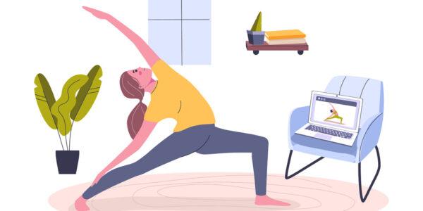 pandemic home yoga practice