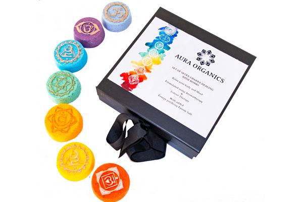 Yoga Christmas Gifts Chakra bath bomb