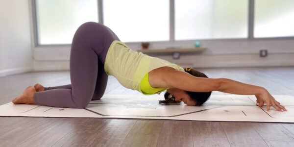 Yoga for stress relief - puppy pose