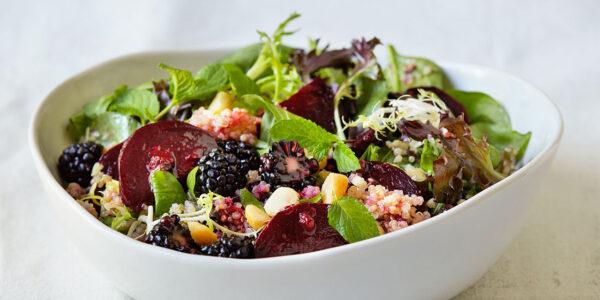 Roasted Beet Salad with blackberry Vinaigrette