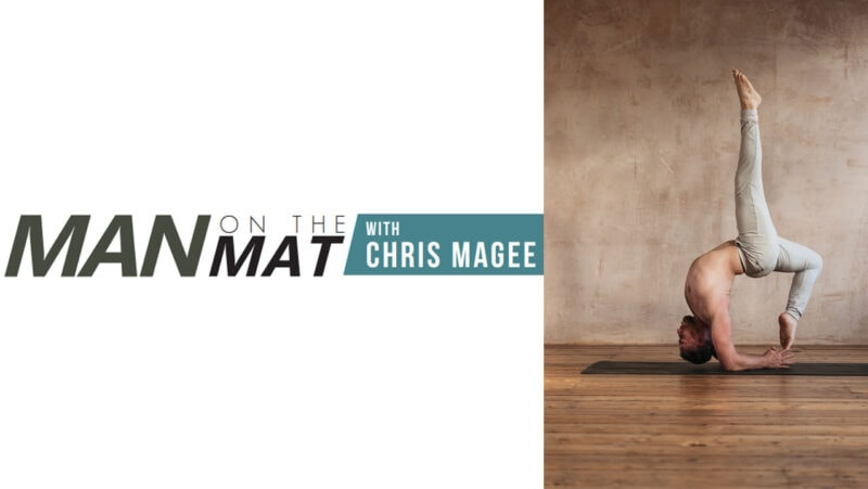 Forearm stand/Feathered Peacock pose - Chris Magee