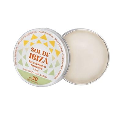 Sol De Ibiza Natural Organic Vegan Sunscreen SPF 30