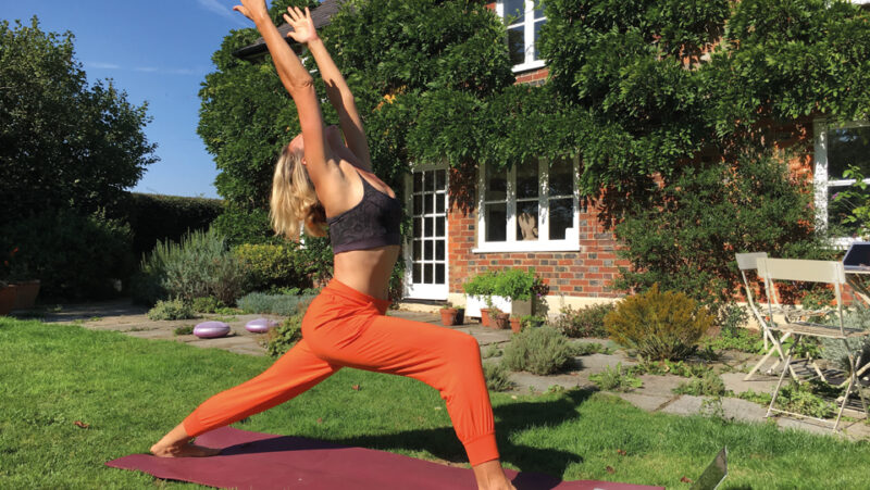 Yoga outdoors in nature