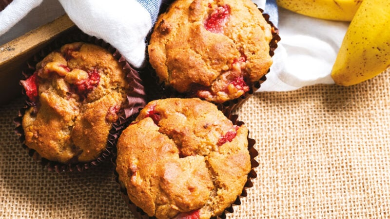 Strawberry Bakewell Muffins
