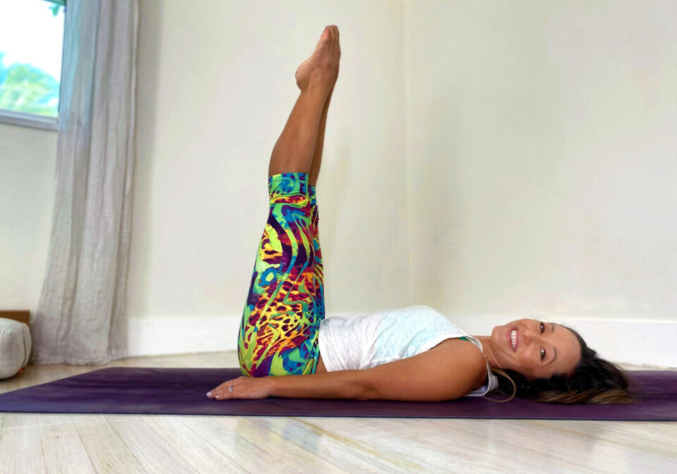 Yoga for stress relief: Viparita Karani