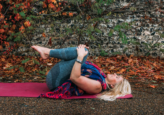 Beginners Yoga Sequence Knees To The Chest